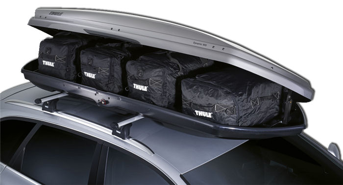 Thule Go Pack Roof Bags Inside A Box