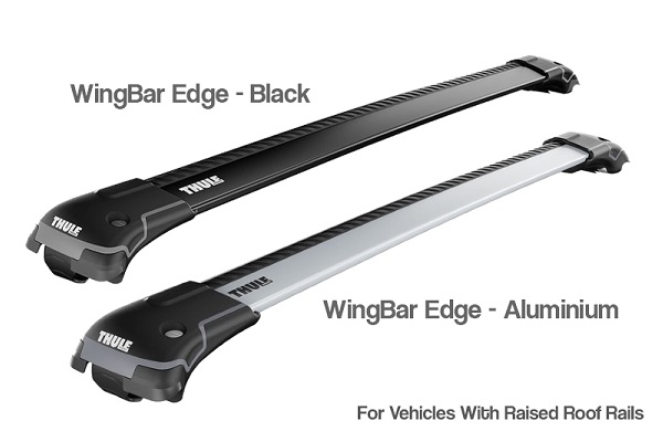 Thule WingBar Edge for Raised Rails in Aluminium and Black